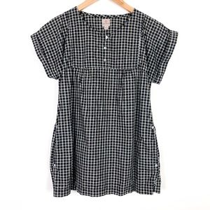 AG Adriano Goldschmied Plaid Pocket Popover Top